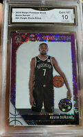 2019 Panini Hoops Premium Stock Purple Disco Prizm Kevin Durant Gem Mint 10