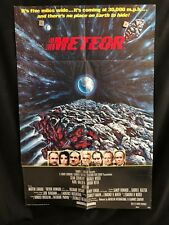 Meteor 1979 One Sheet Movie Poster Sean Connery Natalie Wood Sci Fi