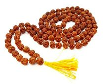 7 mm Rudraksha Mala Rudraksh Japa Mala Rosary Bead Hindu Meditation 108+1 Beads