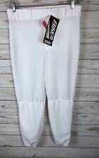 Men's White Bike Baseball Pants Medium Softball Full Athletic Cut h7