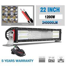"10D 22"" 1200W 4 ROW CREE LED WORK LIGHT BAR SPOT FLOOD COMBO Ford VS 24"" 23"" 20"""