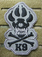 K-9 TRACKER SPÜRHUND HUND FOLIAGE ISAF TACTICAL MORALE  AUFNÄHER KLETT PATCH NEU