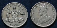 MONETA COIN AUSTRALIA KING GEORGE V° SIX PENCE 1928 - ARGENTO SILBER SILVER