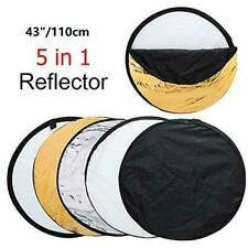 5-in-1  Photograph Disc Collapsible Light Reflector Studio Multi Photo 43""