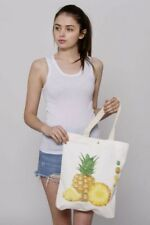 Multipurpose Spring/summer Beach Pineapple Canvas Cotton Tote Bag