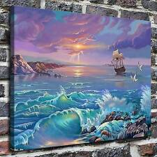 The storm at sea Paintings HD Print on Canvas Home Decor Wall Art Pictures