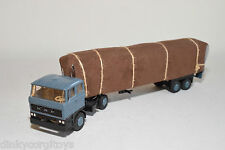LION CAR BASED DAF 2800 TRUCK WITH TRAILER BLUE-GREY NEAR MINT CONDITION