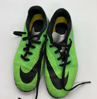NIKE Hype venom Boy's Fluorescent Green Turf Soccer Shoes Size: 1 # 599811-303