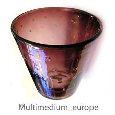 50° Anni lilla Calice vaso vetro con Luft bolle Murano Vetro vaso aria bubbles