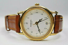 Raymond Weil Geneve Gold Plated Brown strap Ladies watch Model 5332