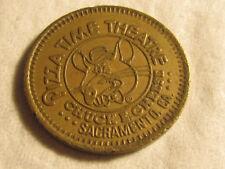 Rare 1981 Sacramento CA Chuck E Cheese PizzaTime City TOKEN COIN