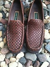 Cole Haan Woven Loafers Brown Leather Women's 9 AA Preowned