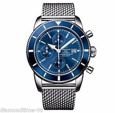 NEW BREITLING SUPEROCEAN HERITAGE 46 BLUE DIAL CHRONOGRAPH WATCH A1332016/C758