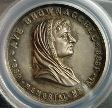 1888, India. Alexandra Girls English School. Silver Bhownaggree Medal. PCGS SP61