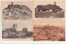 Lot 4 cartes postales anciennes LE PUY château de polignac 3