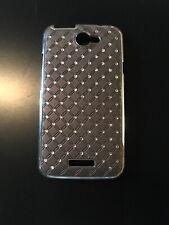 Htc One X Plastic Glittering Case Cover Brown