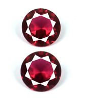 Round Burma Red Ruby Gemstone Pair 6.75 Ct 100% Natural 9 x 9 mm AGSL Certified