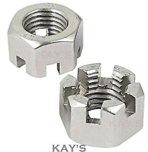 M5 M6 M8 M10 M12 M16 M20 CASTLE NUTS SLOTTED HEXAGON METRIC A2 STAINLESS STEEL