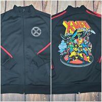 Marvel X-Men Mens Track Jacket Mad Engine sz M Black Wolverine Cyclops Storm