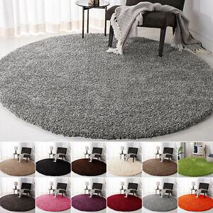 Shaggy Round Rug Living room Bedroom Carpet Floor Fluffy Circle Mat 120 x 120 cm