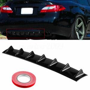 Universal Lower Rear Bumper Spoiler Diffuser Shark 7 Fin Body Kit Gloss Black