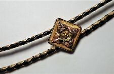 "Vintage Black Hills Gold Bolo 10k Rose Green & Yellow Gold 36"" Long 17,64g"