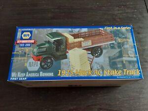 NAPA 75th Anniversary 1925 Mac AC Stake Truck First Gear NIB NEVER DISPLAYED