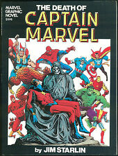 Death of Captain Marvel Graphic Novel GN 1982 1st Printing Jim Starlin art Rare