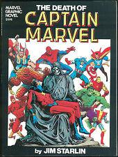 Death of Captain Marvel Graphic Novel GN 1982 1st Printing Jim Starlin art Rare