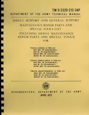TM9-2320-212-34P ~ M37 /  M43 ~ Direct & Gen Support ~ Parts Manual ~ Reprnt