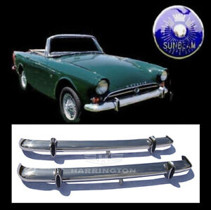 Sunbeam Alpine S4 S5 and Sunbeam Tiger stainless steel bumpers