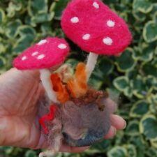 Needle Felted Mushrooms Decoration Handmade fly agaric mushrooms
