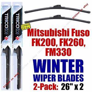 WINTER Wipers 2pk fit 2008-2011 Mitsubishi Fuso FK200 FK260 FM330 - 35260x2