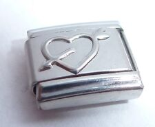 HEART & ARROW Italian Charm - Cupid Love Romance 9mm Shiny fits Classic Bracelet