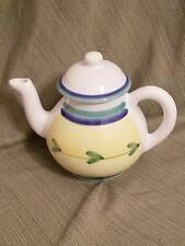 Caleca pottery HTF Teapot & Lid Carousel pattern *paint chip on spout* Italy