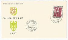 Saarland, Saar, FDC, Mi. Nr. 400, Saarmesse 1957, Erstagsbrief