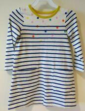 Brand New W/Tags Mini Boden Stripes & Polka Dots Pocket Dress Girl's Size 6-7