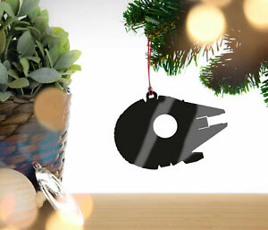 Millennium Falcon Personalised Christmas Decoration Hanging Tree Decoration