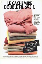 PUBLICITE ADVERTISING 126  1993  Pulls cachemire Nouvelles Galeries Lafayette