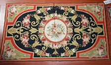 3' X 5' Needlepoint Rug French Palace Elegant Rose Garland Beautiful #138-2