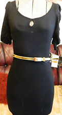 BABY PHAT BLACK JUMPER DRESS GOLD BELT NEW WITH TAGS UK S APPROX 8 - 10