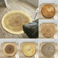 Wood Cut Surface Non-slip Round Soft Area Rug Floor Carpet Door Mat Home Decor
