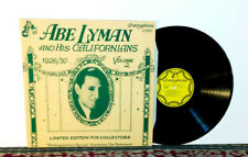 Abe Lyman And His Californians Volume 2 (1926-1930) LP Made in Netherlands, 1979