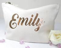 Personalised Make Up/Wash Bag *ANY Name* Christmas Gift Present Birthday