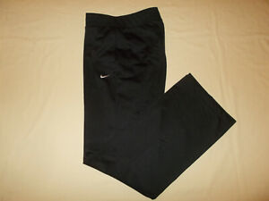 NIKE DRI-FIT BLACK ATHLETIC SWEATPANTS MENS LARGE EXCELLENT CONDITION