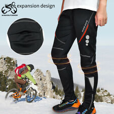 Cycling Casual Pants Thermal Fleece Windproof Waterproof Winter Warm Trousers
