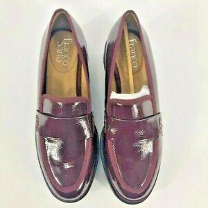 Franco Sarto Women's Shelton Platform Wedge Loafers Shoes Burgundy Size 5M