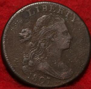 1807 Philadelphia Mint Copper Draped Bust Large Cent
