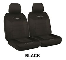 PAIR R. M. WILLIAMS BREATHABLE POLY SEAT COVERS FOR GREAT WALL V240 RWD UTE