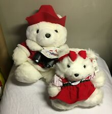 Dayton Hudson Santa Bear / Ms Bear 1995 Stuffed Spruce Up Plush Christmas Pair